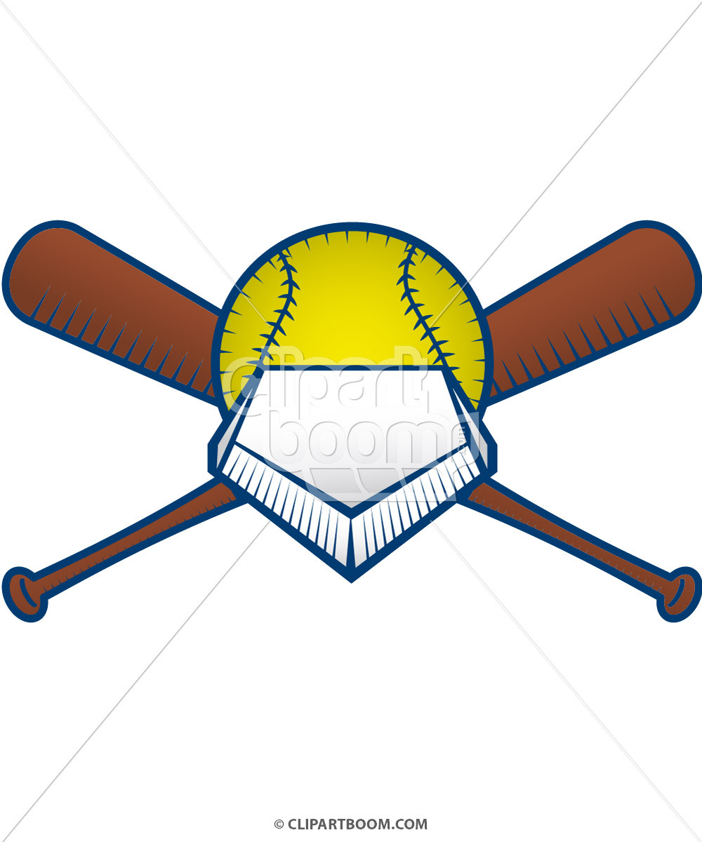 Softball Field Clipart