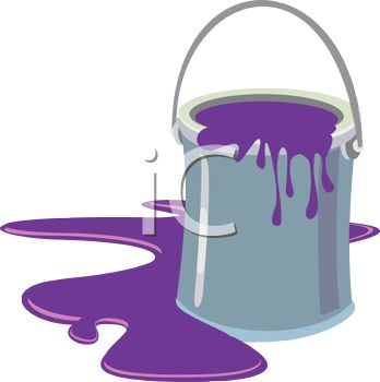 Spilled Paint Can Clipart Cartoon Of Spilled Latex Paint