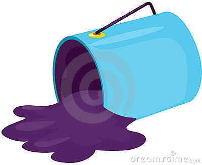 Spilled Paint Can Clipart Paint Bucket 22505985 Jpg