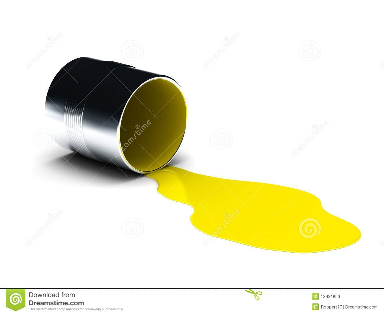 Spilled Paint Can Clipart Yellow Spilled Paint Isolated