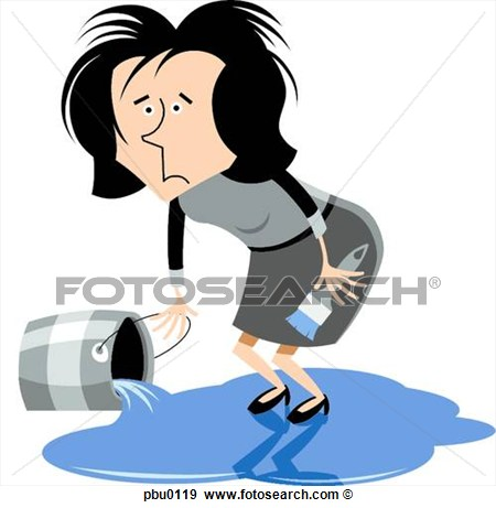Standing On A Pool Of Spilled Paint Pbu0119   Search Vector Clipart
