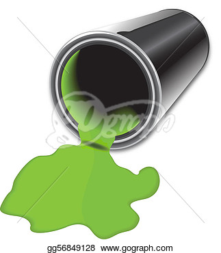 Stock Illustration   Spilled Paint Bucket  Clipart Drawing Gg56849128