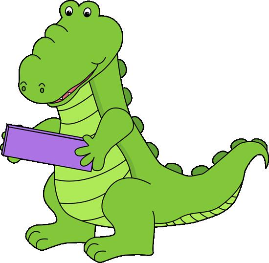 Alligator Holding A Subtraction Symbol Clip Art   Alligator Holding A