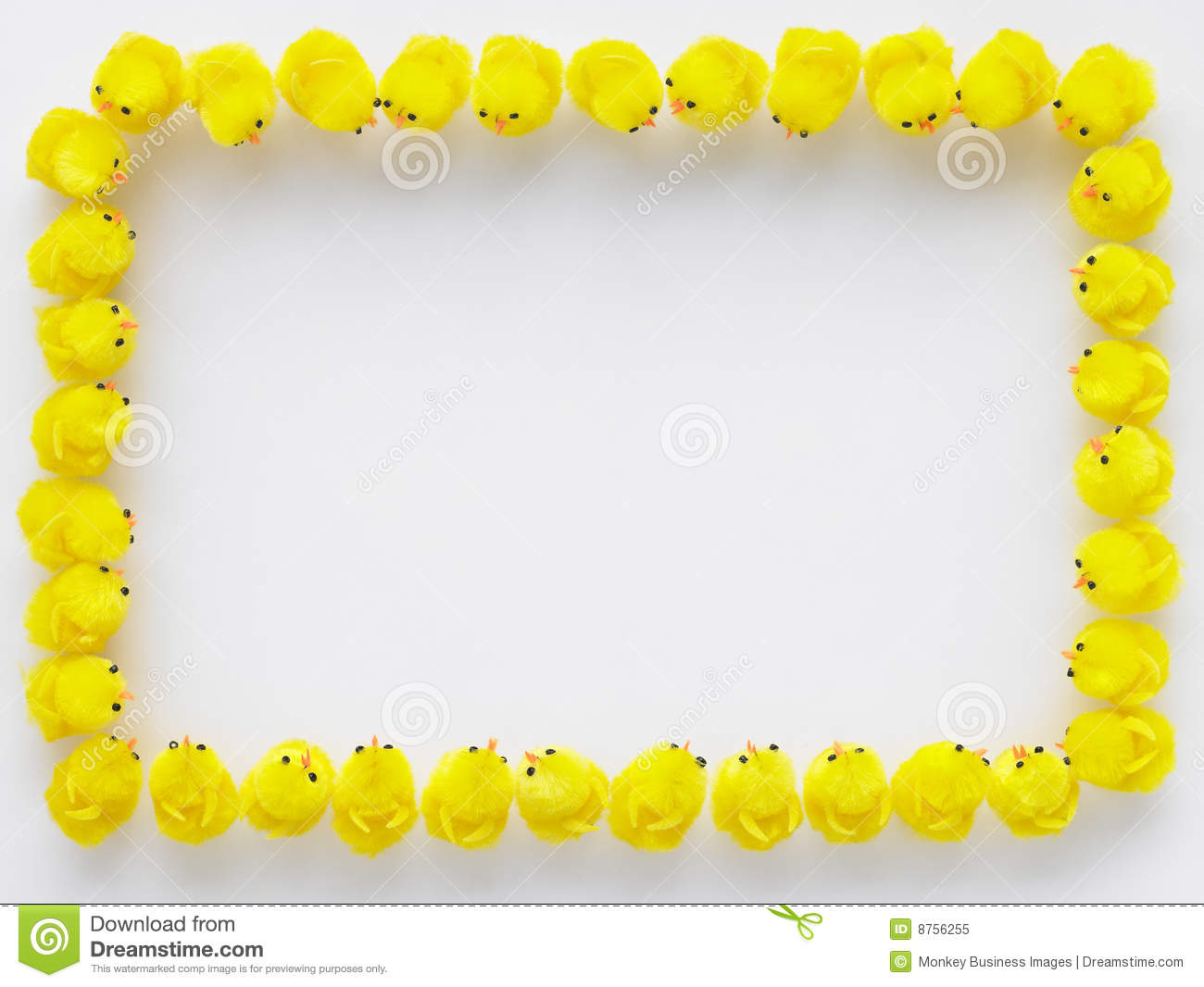 Border Made Of Easter Chicks Royalty Free Stock Photo   Image  8756255