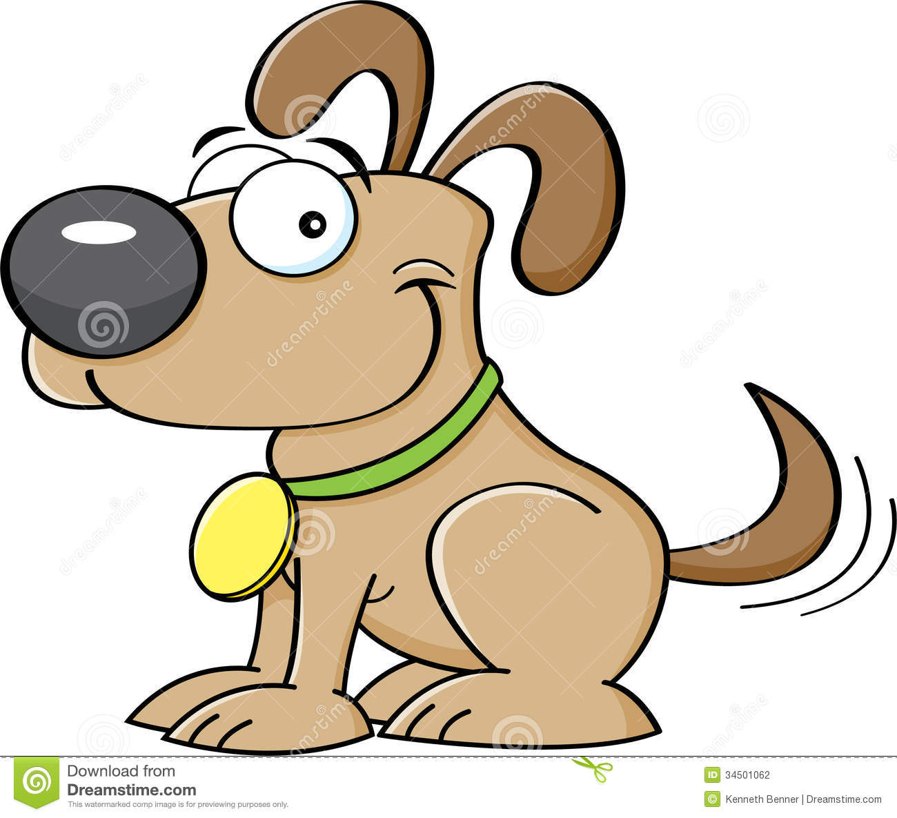 Cartoon Puppy Stock Photography   Image  34501062
