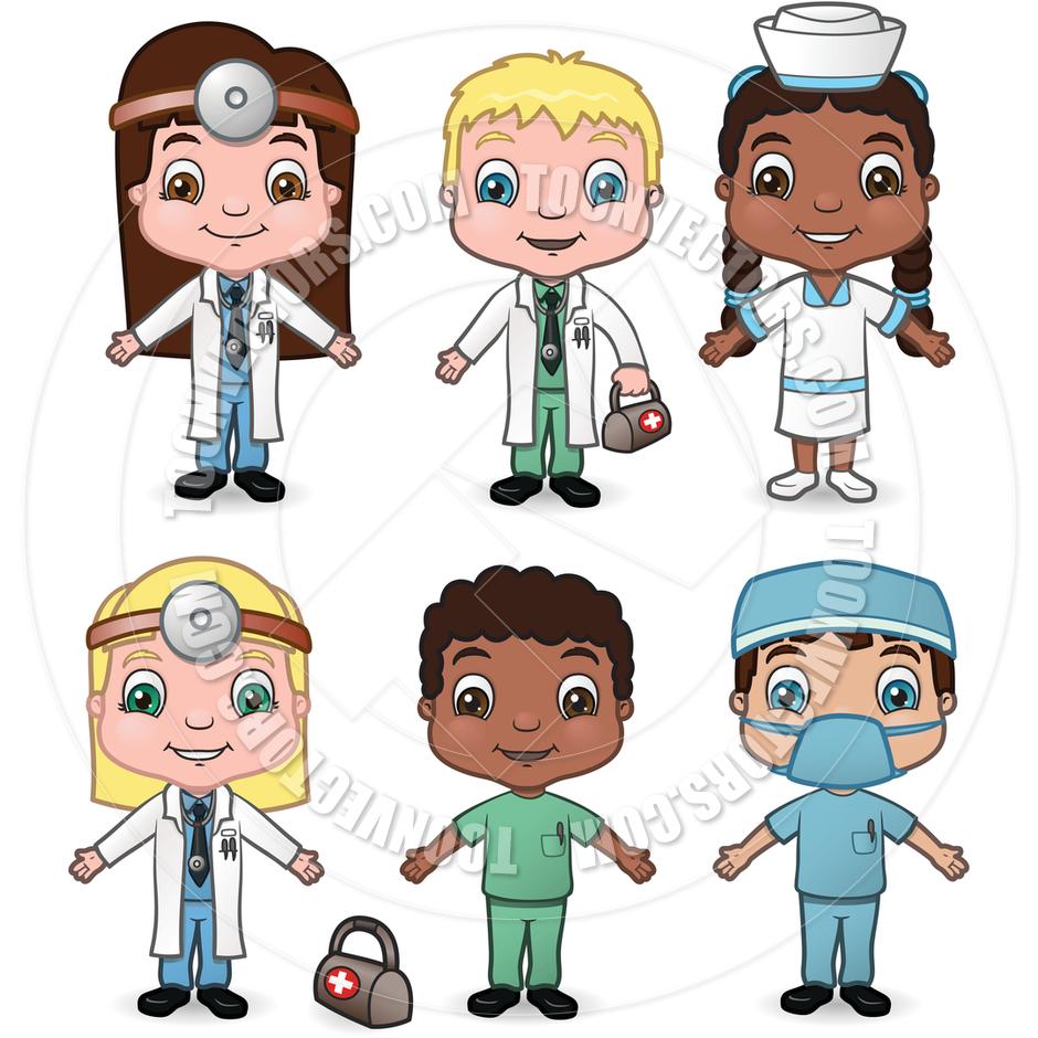 Children Doctors And Nurses By Meshaq2000   Toon Vectors Eps  9330