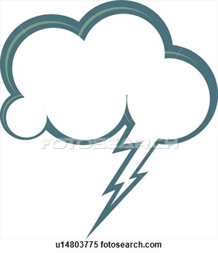 Cloud And Lightening Dialogue Balloon  Fotosearch   Search Clipart