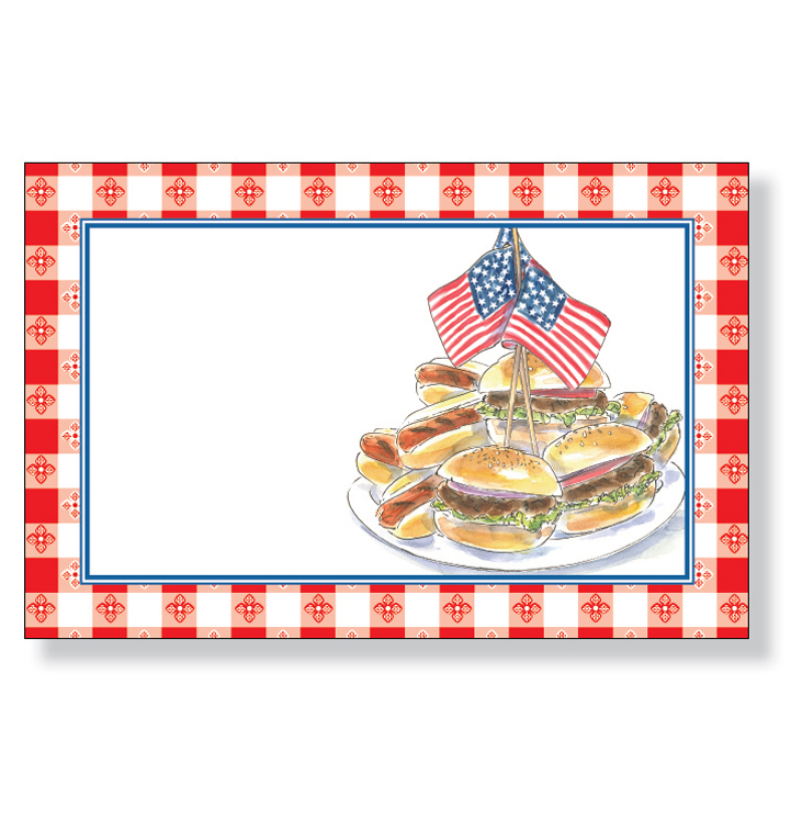Cookout Border Patriotic Cookout Bulk 20 Cards And Envelopes  Upc