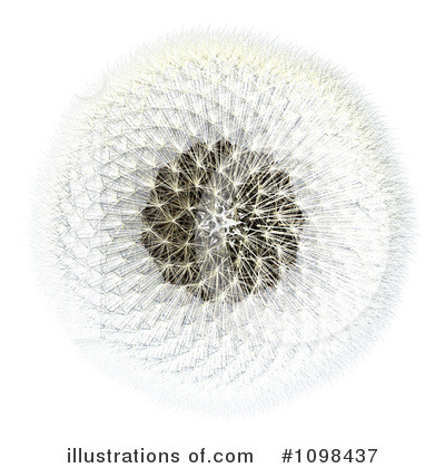 Dandelion Clipart  1098437 By Leo Blanchette   Royalty Free  Rf  Stock