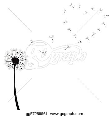 Dandelion Illustration Isolated On A White Background  Stock Clipart