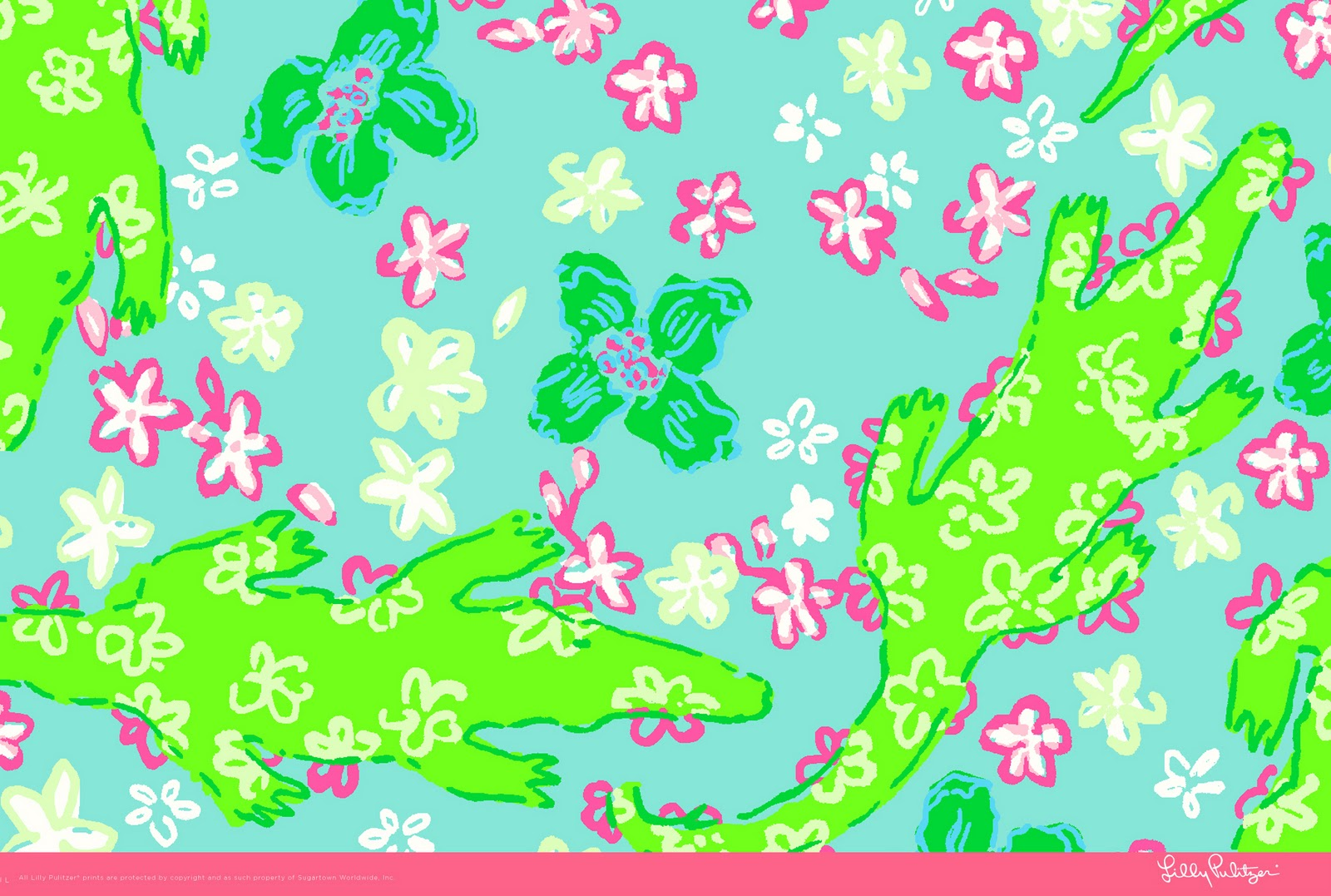 Lilly Pulitzer Sailboat Wallpaper