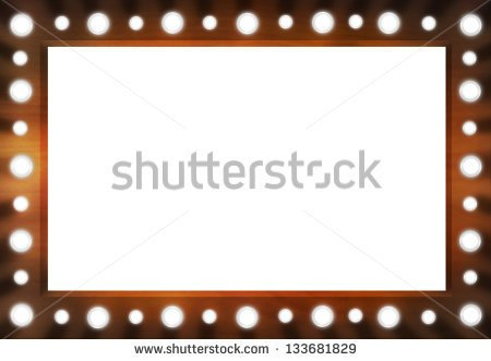 Marquee Lights Border Clipart Brown Back Stage Light Mirror