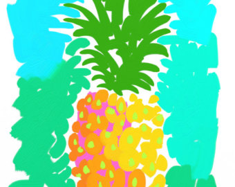 Print 11x14 Kelly Tracht Lilly Pulitzer Art Painting Fruit Clipart