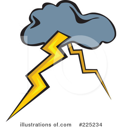 Lightning Cloud Clipart - Clipart Kid
