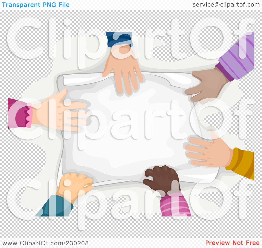 Royalty Free  Rf  Clipart Illustration Of A Diverse Hands Touching