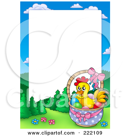 Royalty Free  Rf  Easter Border Clipart Illustrations Vector