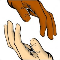 Touching Hands Clip Art