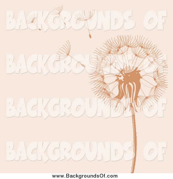 Vector Clipart Of A Background Of Dandelion Seeds Flying In The Wind