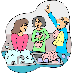 Washing Dishes Clipart Cliparts Of Washing Dishes Free Download  Wmf