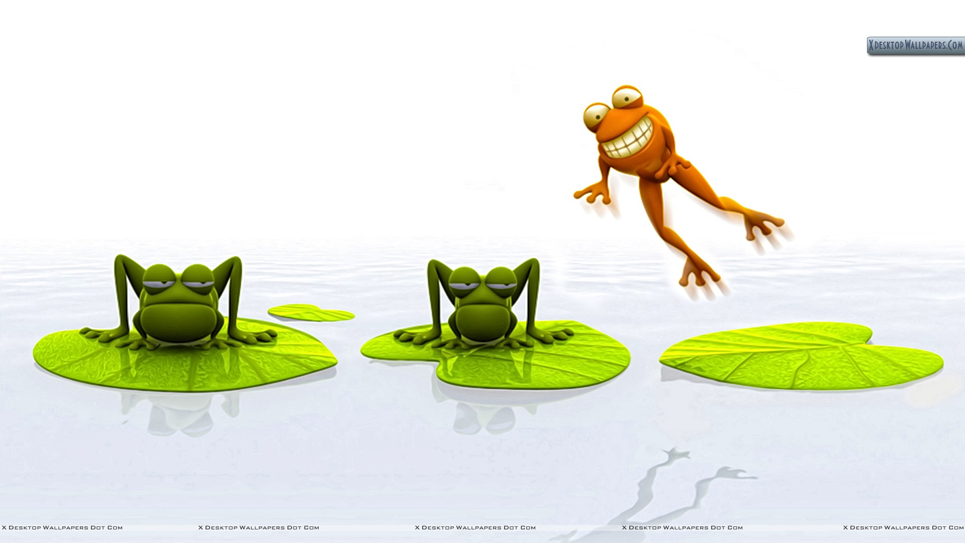 3d Jumping Frog Wallpaper