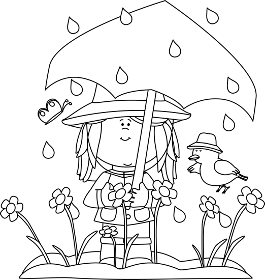 Spring Black And White Clipart - Clipart Kid