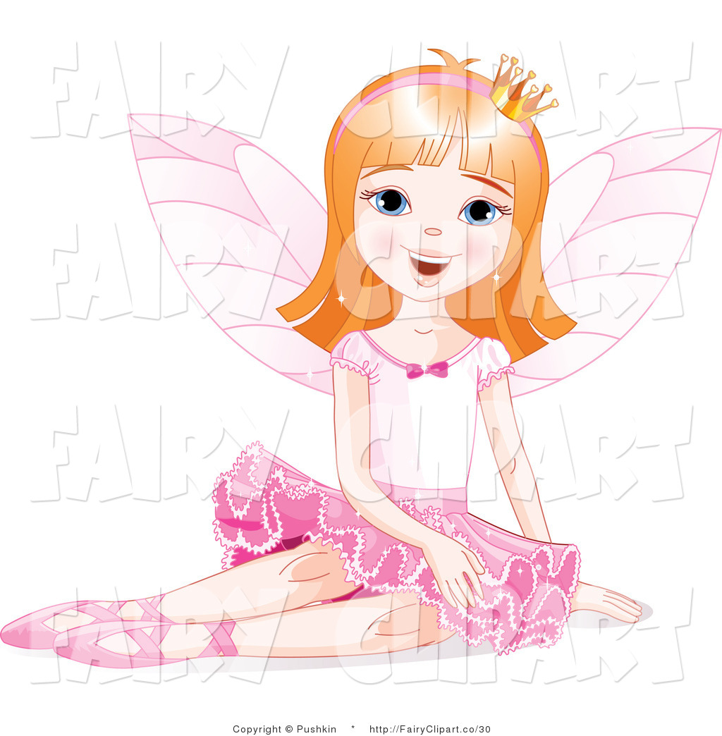Fairy Princess Sitting Ballerina Fairy Princess In Red Toddler Fairy