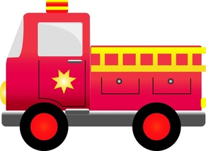 Fire Engine Clipart Image   Fire Truck In Fire Engine Red A Siren