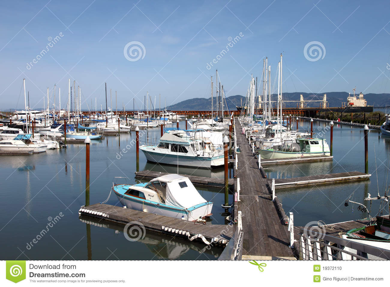 Fishing Boats   Small Yachts In A Marina  Stock Photo   Image