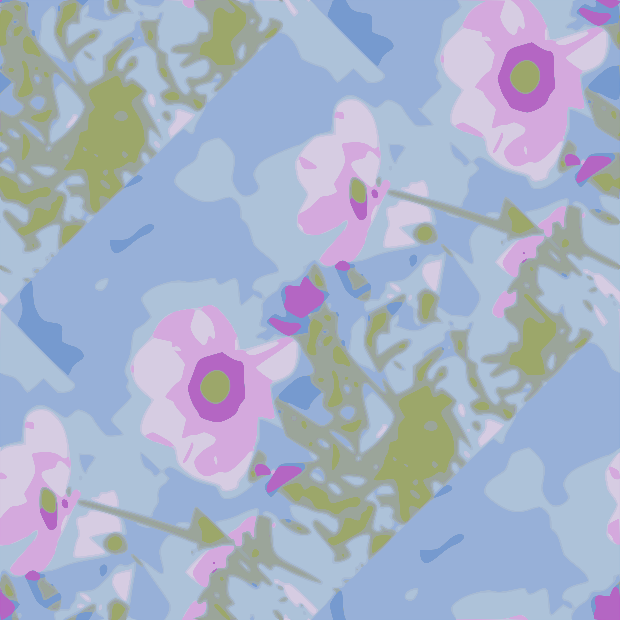 Flower Seamless Pattern 03 By Yamachem