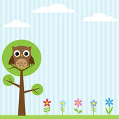 Owl In Tree Clip Art Owl On The Tree Background