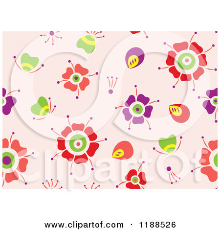 Royalty Free  Rf  Flower Pattern Clipart   Illustrations  1
