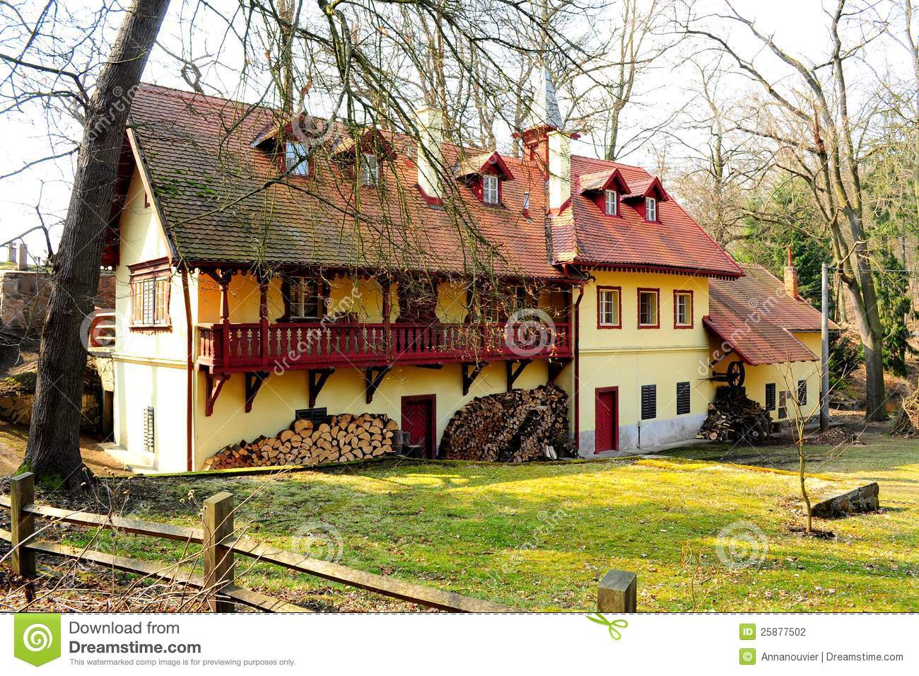 Typical Country Estate Near Prague Stock Photography   Image  25877502