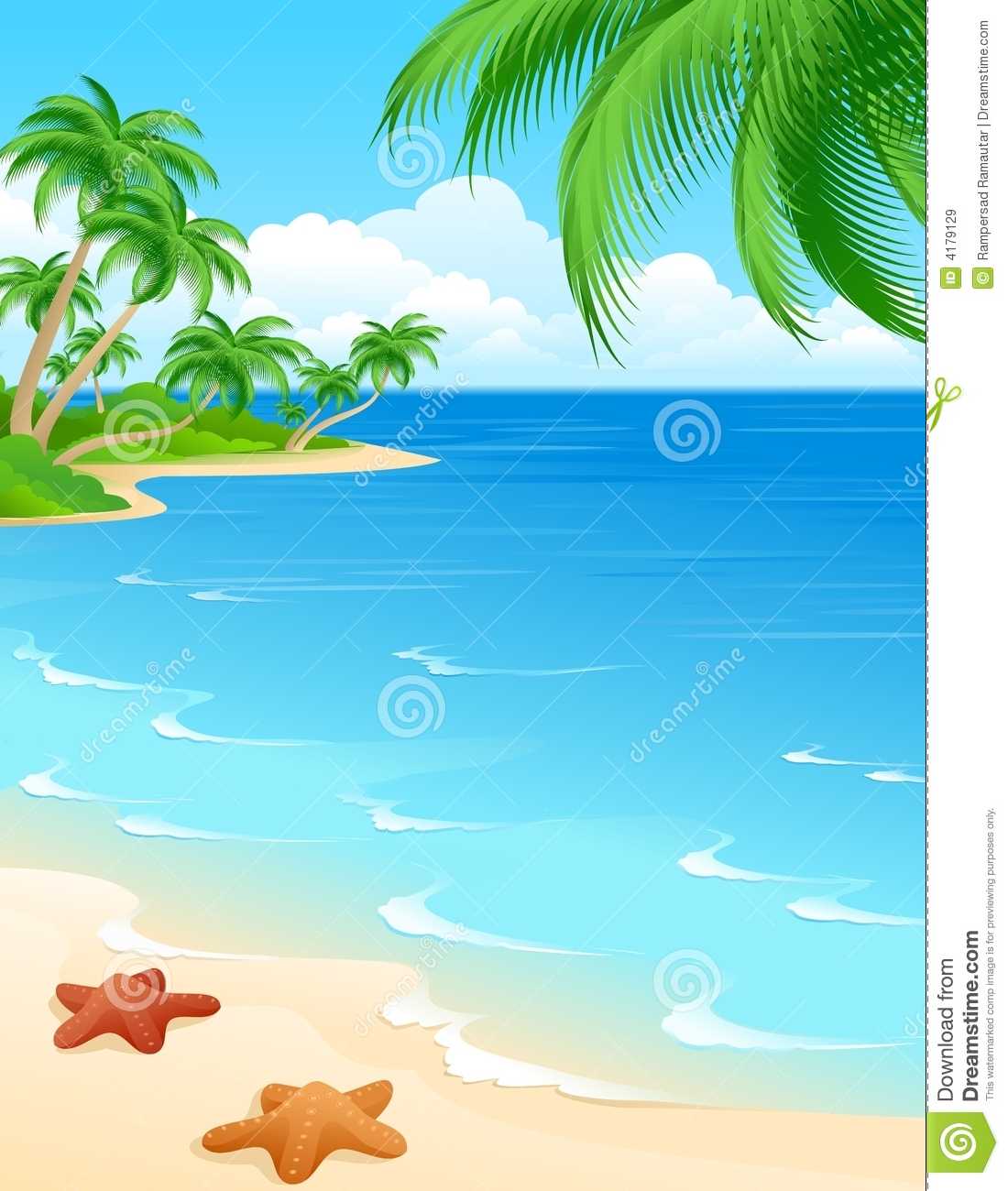 Beach Scene Royalty Free Stock Images   Image  4179129
