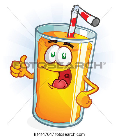 Clip Art   Orange Juice Cartoon Thumbs Up  Fotosearch   Search Clipart