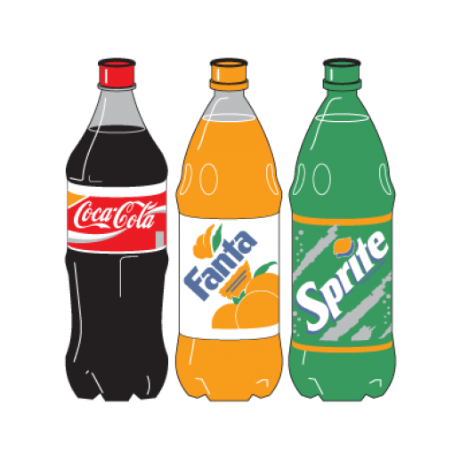 Coca Cola Bottle Clipart Cocacola Three Bottle Logo