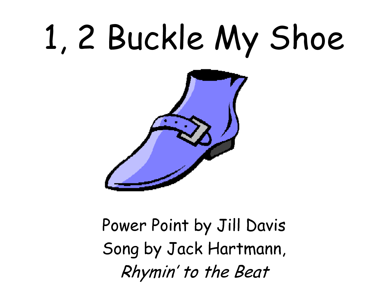 Buckle shoe clipart