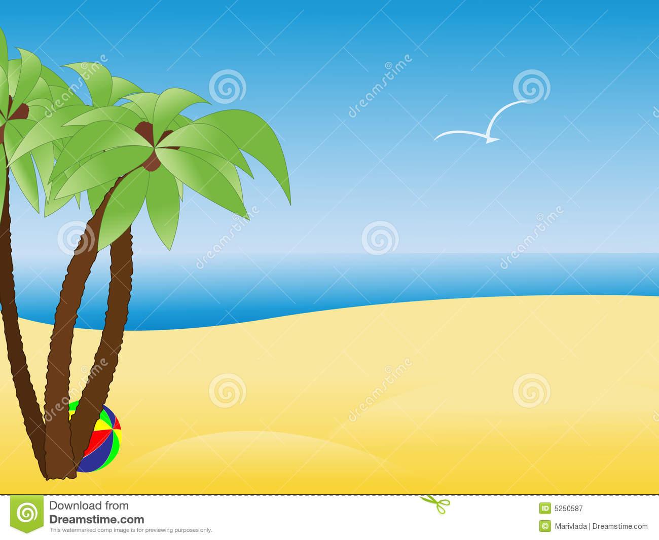 free clipart palm tree beach - photo #46