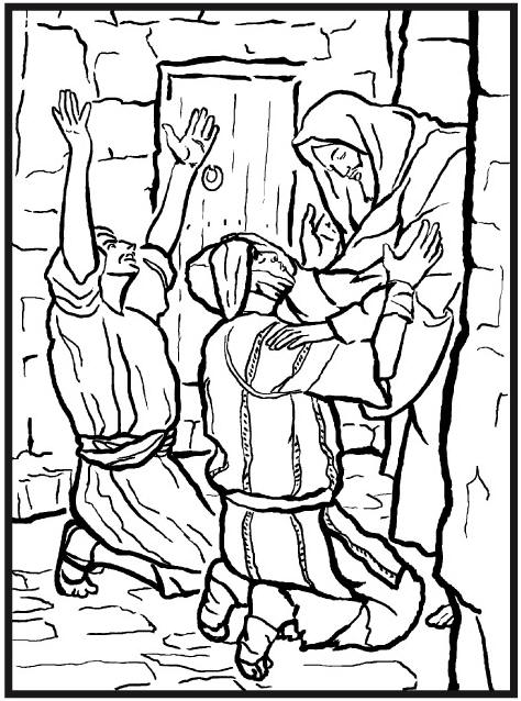 click the jesus heals blind bartimaeus coloring pages to view ...