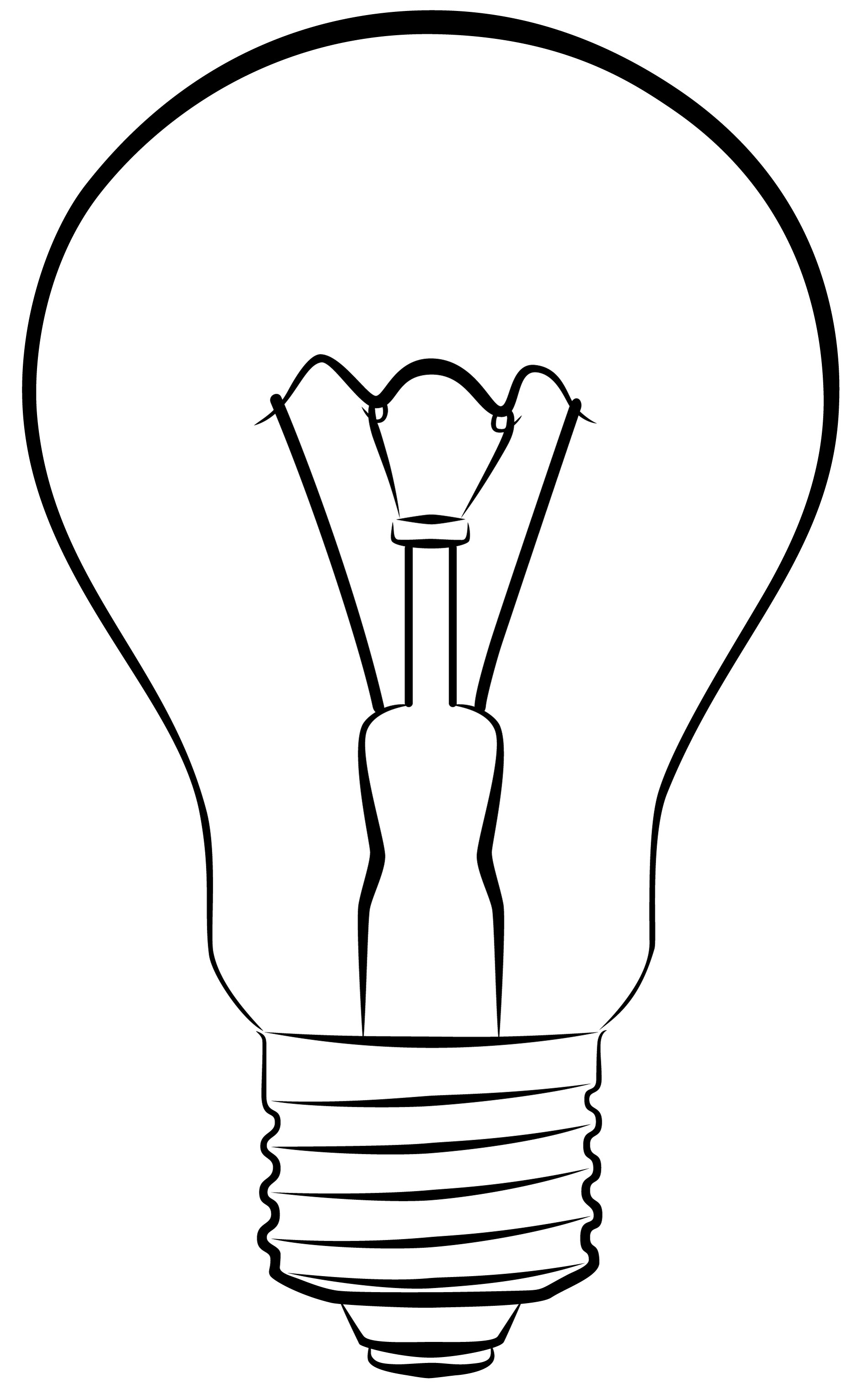 Line Drawing Light Bulb : Light bulb off clipart suggest