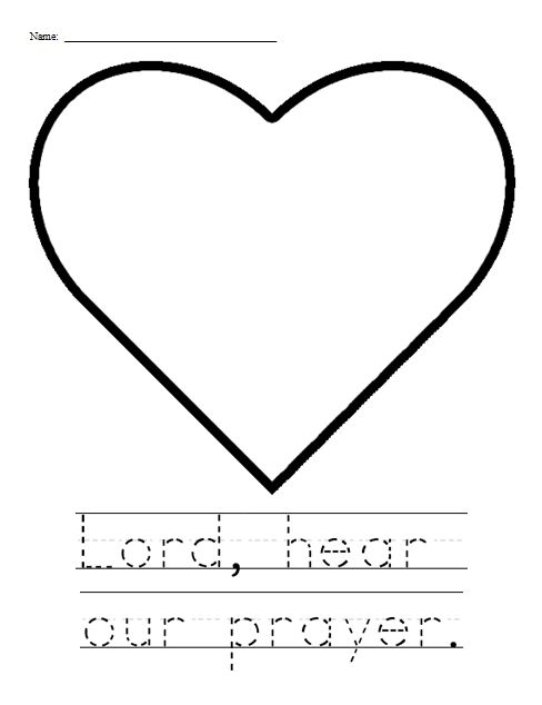 Lord Hear Our Prayer Activity Sheet  For Younger Students   Have The