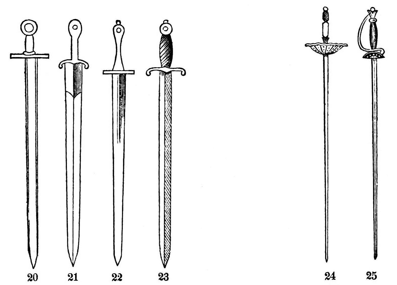 Medival Swords Clipart - Clipart Suggest