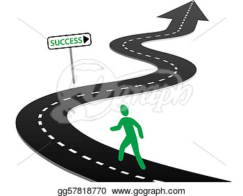 On Curvy Highway To Success And Bright Future  Stock Eps Gg57818770