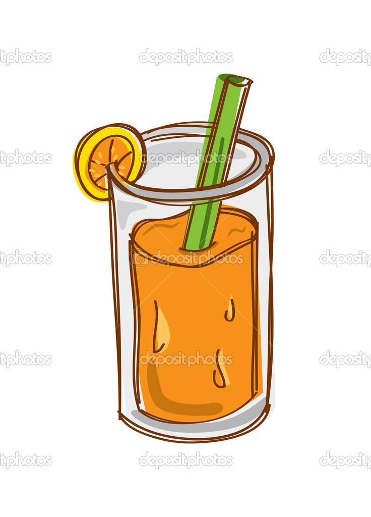 Orange Juice Cartoon   Stock Vector   Mhatzapa  12092596