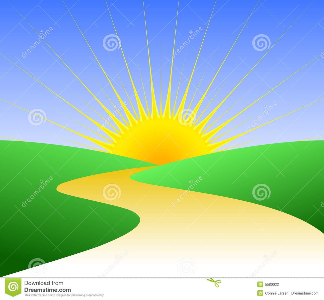 Pathway To Success Clipart Golden Path Bright Future Eps