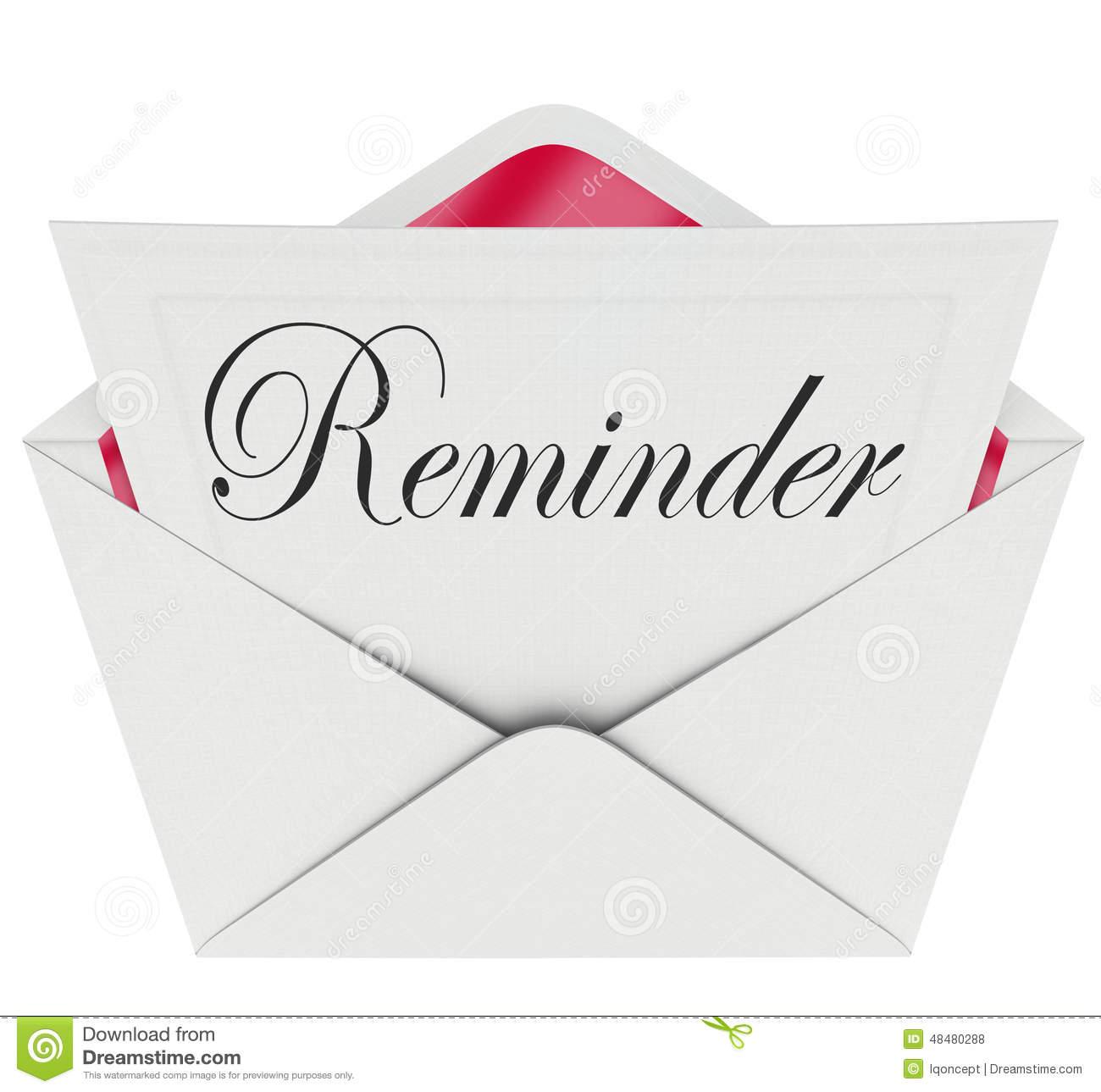 Payment Reminder Clipart