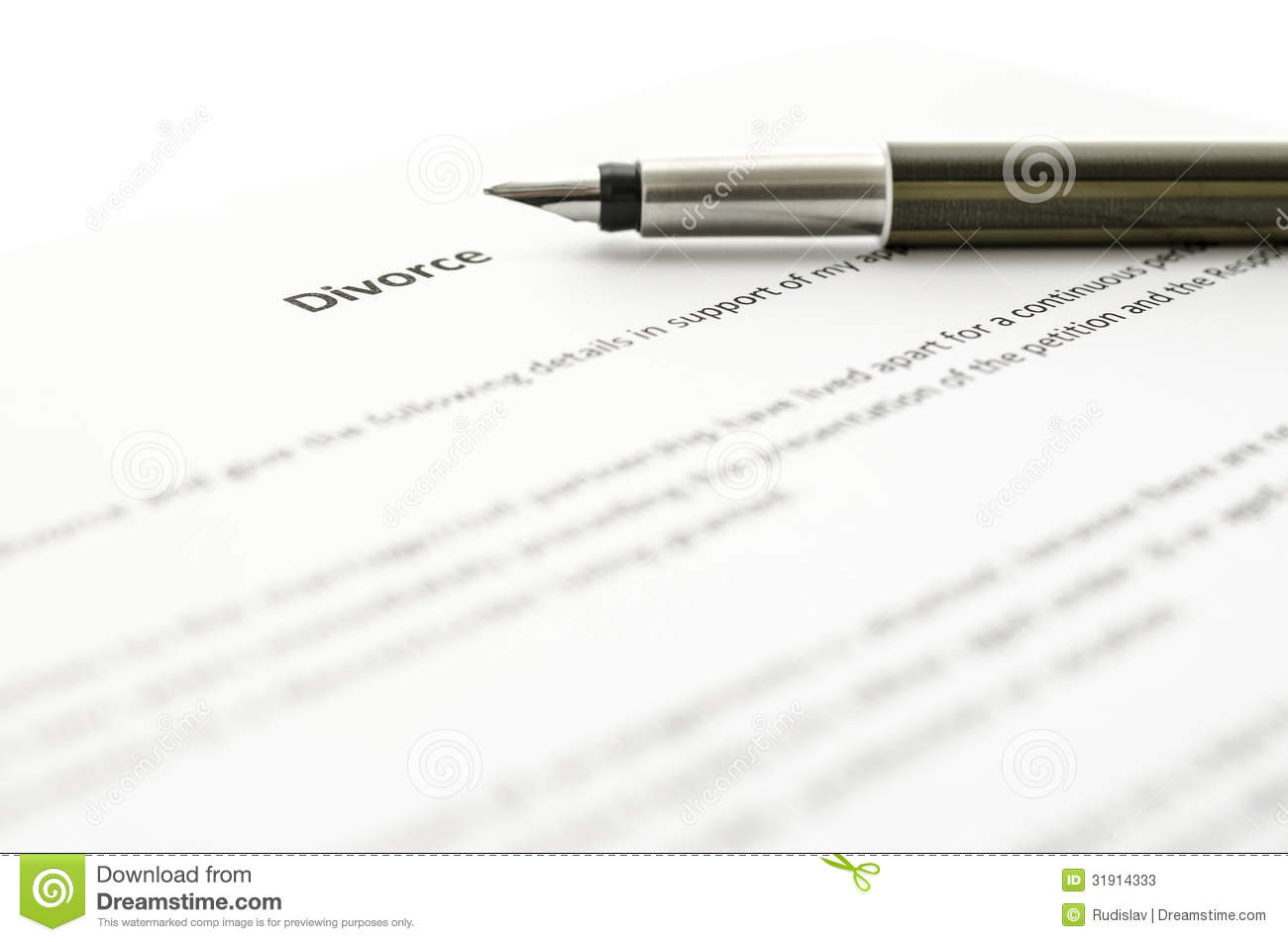 Signing Divorce Papers Stock Photos   Image  31914333