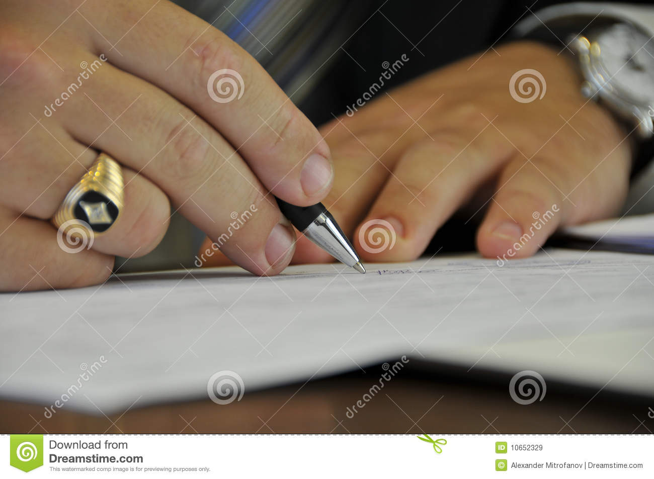 Signing Of Official Papers Royalty Free Stock Images   Image  10652329