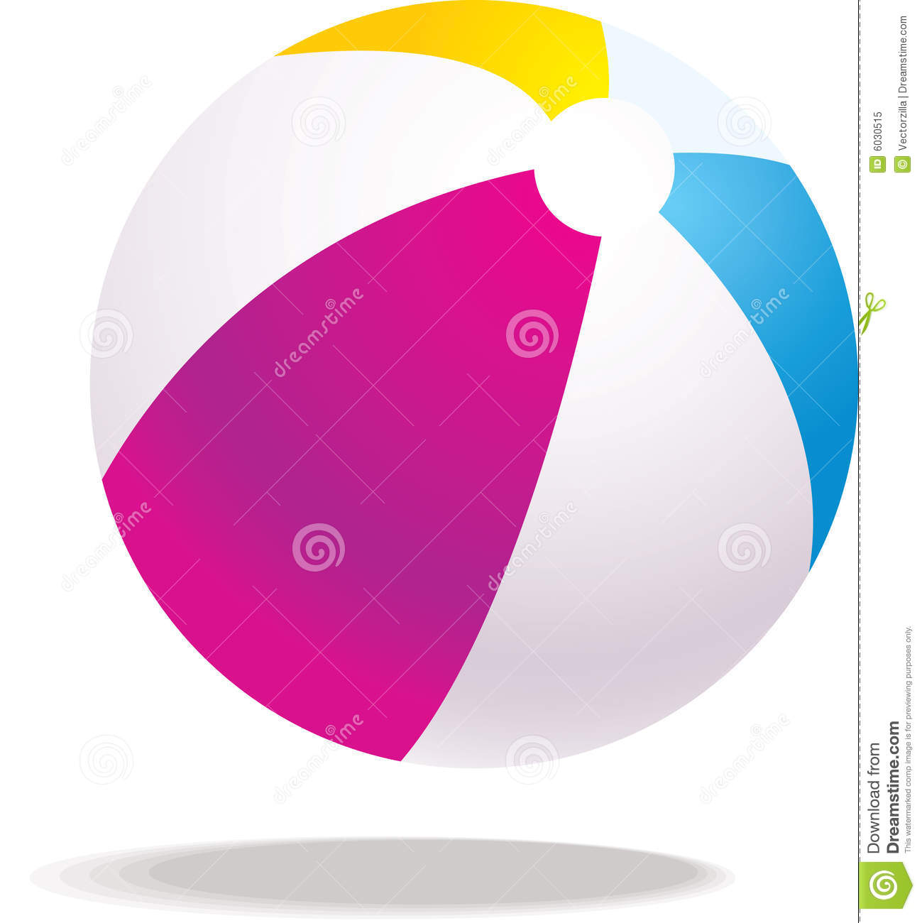 Vector Beach Ball Illustration Royalty Free Stock Photo   Image