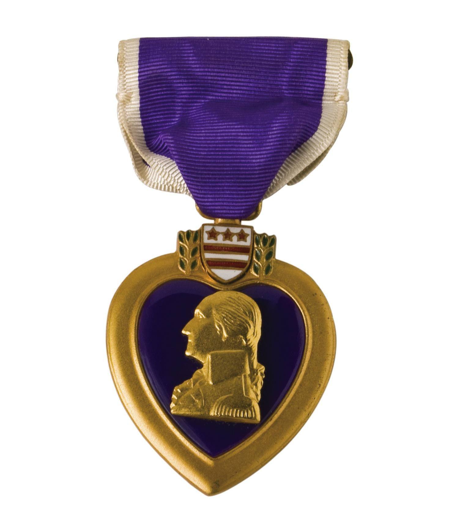 Awarded For Being Wounded In Action  Isolated With A Clipping Path