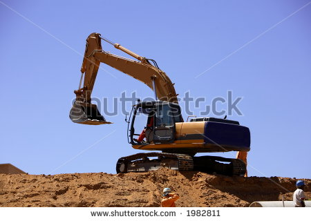 Excavator Digging A Trench #u3vfoa - Clipart Kid